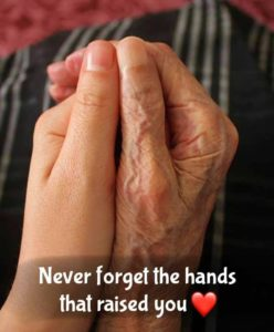 Never forget the hands that raised you.